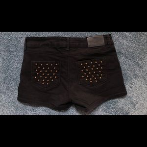 Black & studded Zara shorts